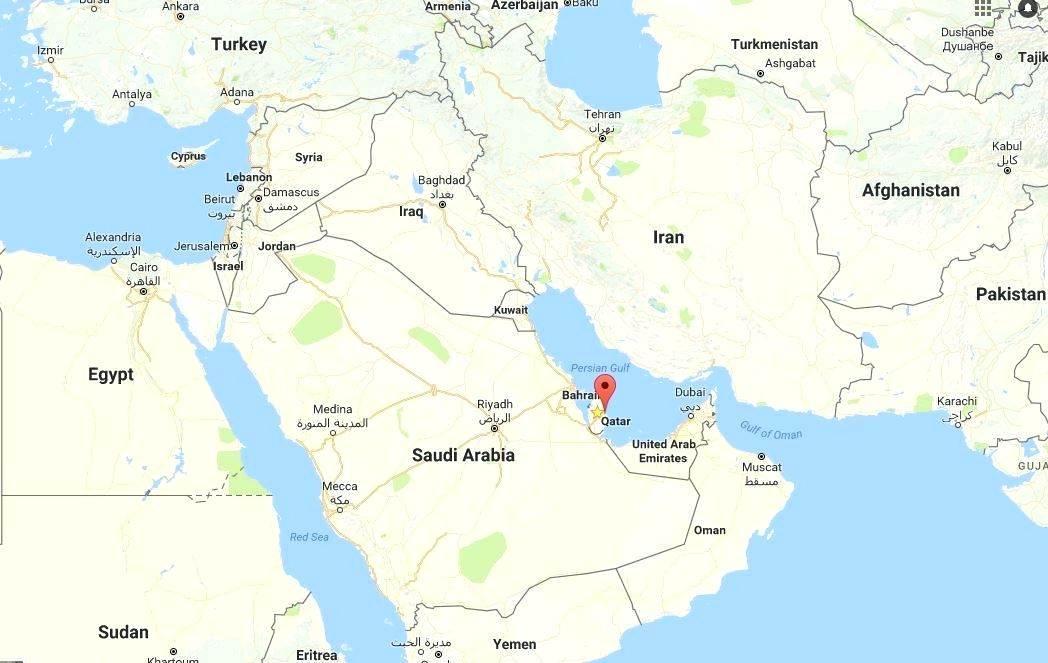 Qatar Harta In Harta Lumii Qatar Harta Lumii Atlas Asia De Vest