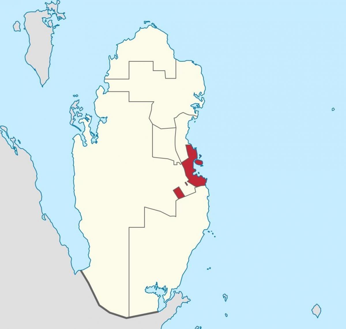 Doha Qatar Localizare Pe Harta Lumii Harta De Doha Qatar