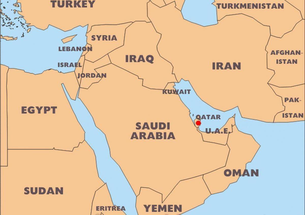 Qatar Harta Lumii Locul De Amplasare Harta Lumii Qatar Locație
